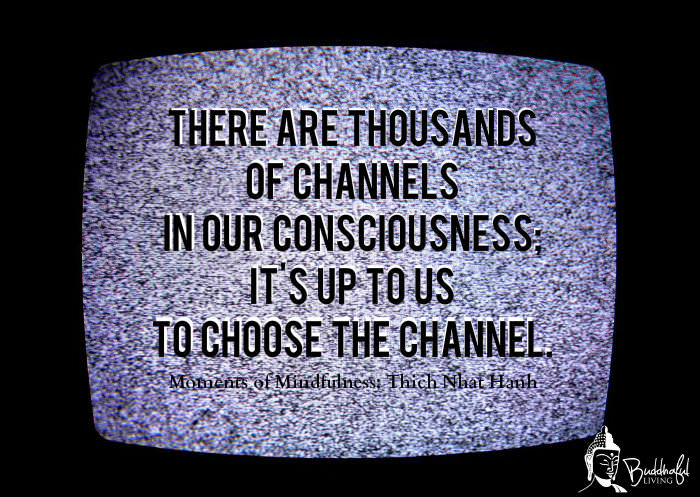 There are thousands of channels in our consciousness; it's up to us to choose the channel.