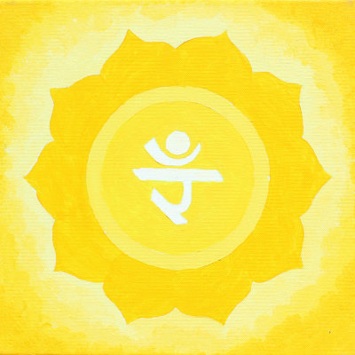 Solar Plexus Chakra Painting